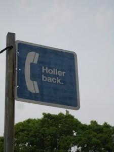 Holler Back.
