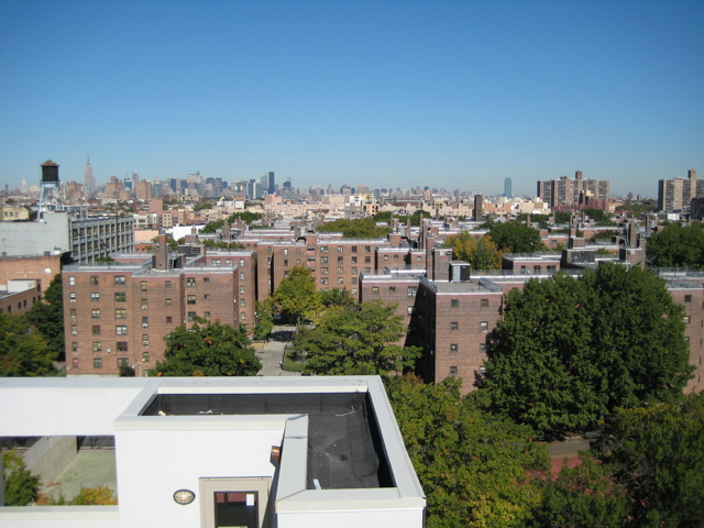 A picture of Bedford Stuyvesant from the roof of the MYNT